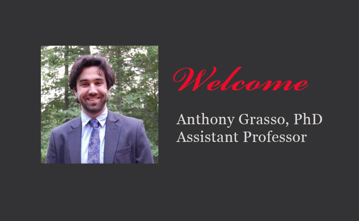 Welcome Dr. Anthony Grasso to the Political Science Department